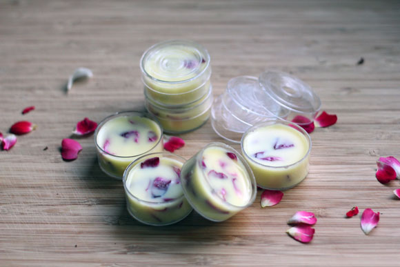 DIY Coconut Rose Lip Balm