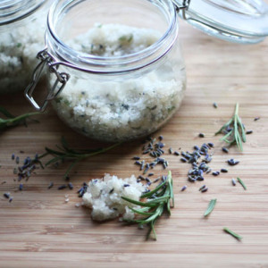 DIY Lavender Rosemary Sugar Scrub
