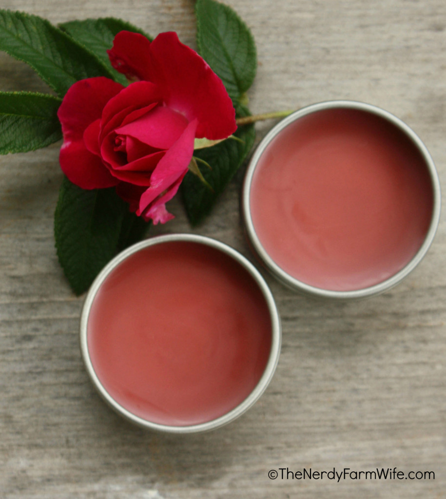 DIY Rose Peppermint Lip Balm Recipe