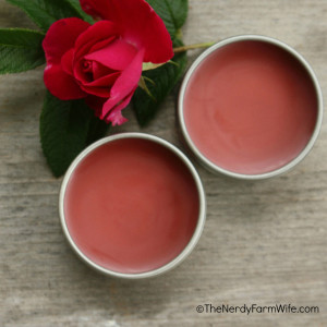 DIY Peppermint Rose Lip Balm