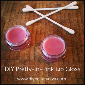 DIY Pretty-in-Pink Lip Gloss Recipe