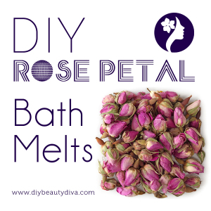 DIY Rose Petal Bath Melts