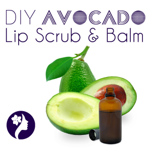 DIY Avocado Lip Scrub & Balm