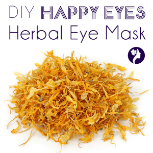 DIY Calendula Eye Mask